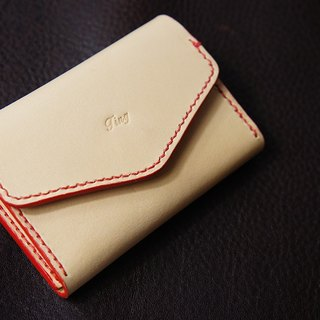 2-in-1 Coin Case & Card Holder, Vegetable tanned leather