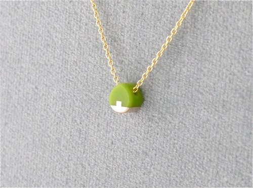Necklace Drop micro Green