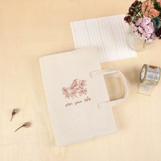 B6/32K multi-function portable linen book / book cover / book cover / canvas / natural fabric