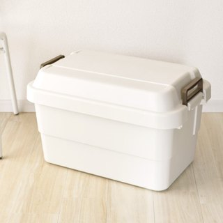 Japan TRUNK CARGO Multi-Functional Environmental Heavy-Duty Storage Box 50L - Two Color Options (White and Brown)