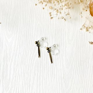 Personality Pin Earrings - Unilateral // Rubber Clip