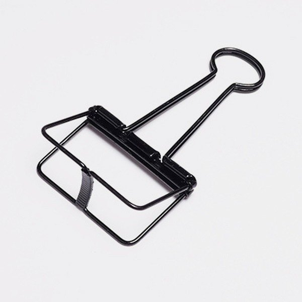 Binder Clips black simple hollow clip / L (invoice, calendar folder)