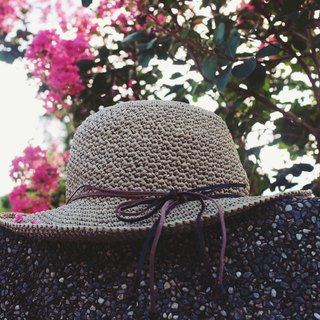 Handmade - simple and simple - hand woven visor - hand-woven - travel / light travel / couple hat