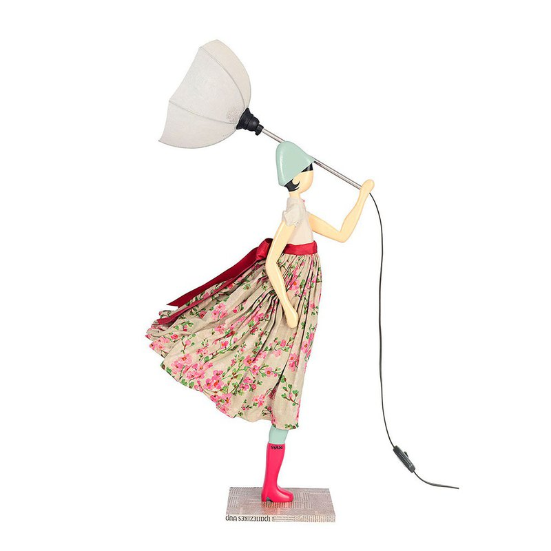 Wind little girl fashionable lamp Simone order production handmade
