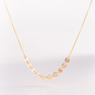ITALY Necklace with dainty chain 14k Gold-Filled