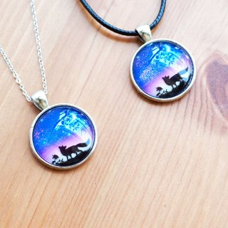 Fox Garden hand-made couple Valentine's Day gift 25mm Star fox luminous on the chain (two) Christmas gifts exchange gifts birthday gifts