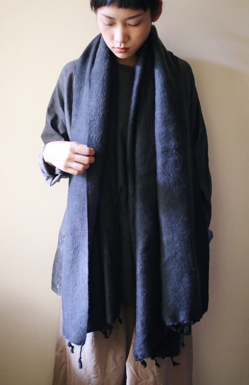 OMAKE Select Blend Scarf_Grey Black