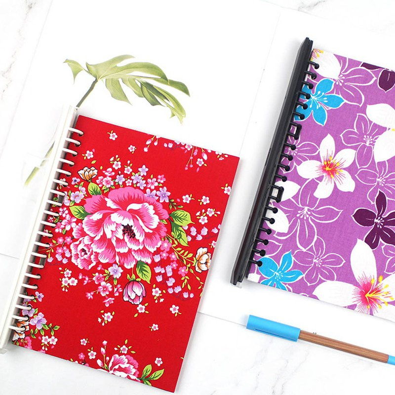 A5/25K 18 hole flower cloth cover set / DIY loose-leaf note / loose-leaf flower cover board