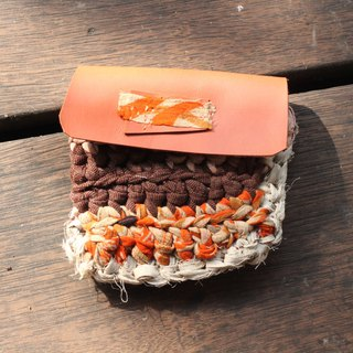 Eco-friendly reusable cloth coin purse - ORANGE