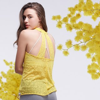 [MACACA] Ruge Spring Burns Blouse - AQA1114 Yellow