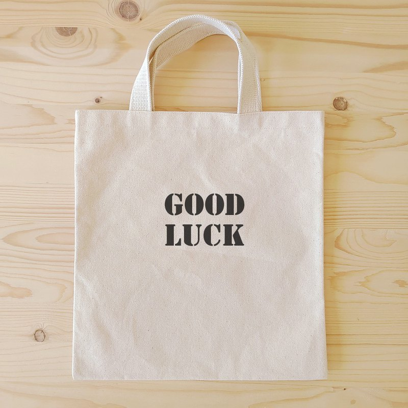 Positive energy flat tote / book bag _Good Luck