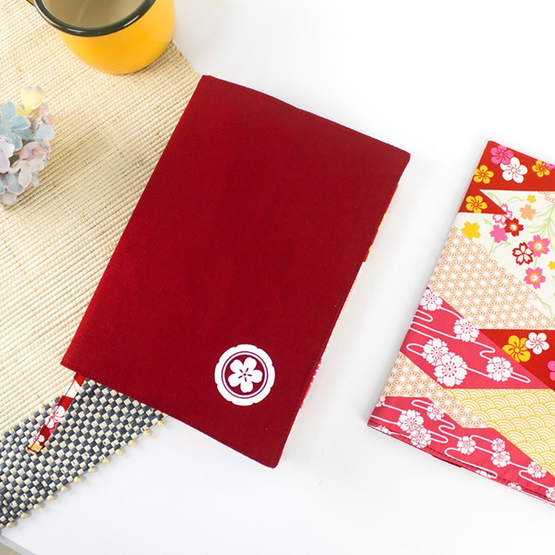 Chuyu A5/25K adjustable cotton and linen multifunctional book jacket/book cover/book cover-Japanese family crest