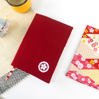 A5/25K adjustable cotton linen multi-function book / book cover / book cover - Japanese family emblem