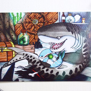 Tofu shark spot spot whale shark Postcard Stories - Josson and Dots