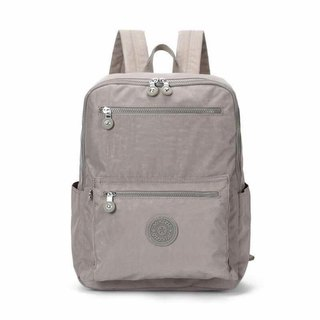 Water repellent nylon backpack 2018 new student bag simple wild travel bag leisure backpack - beige # 8506