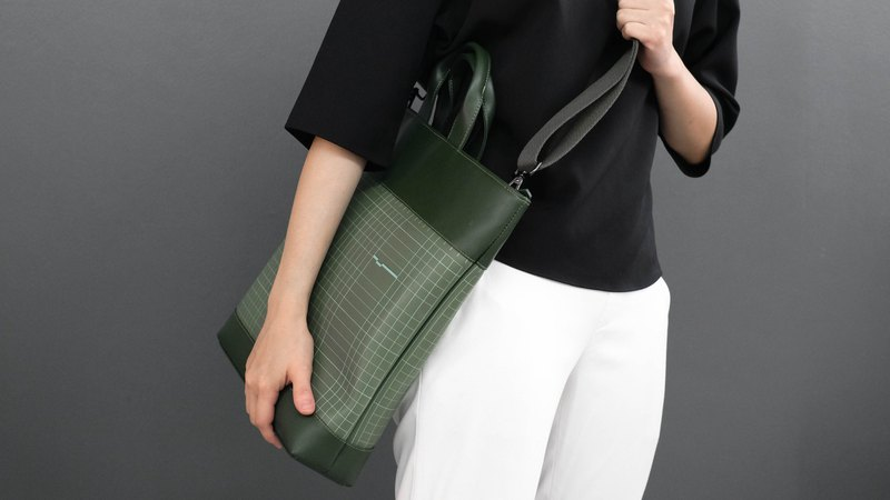 HUM Tote S #CUTTINGMAT #FOREST GREEN-GREEN