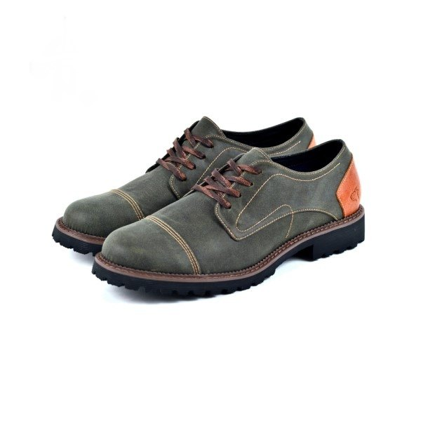 [Dogyball] simple men's shoes breathable vamp super soft Q soles business casual shoes olive green
