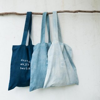 speak jibberish | natural indigo Tote Bag