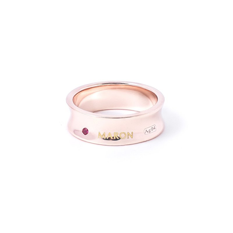 Curve Band Ring (Rose gold)