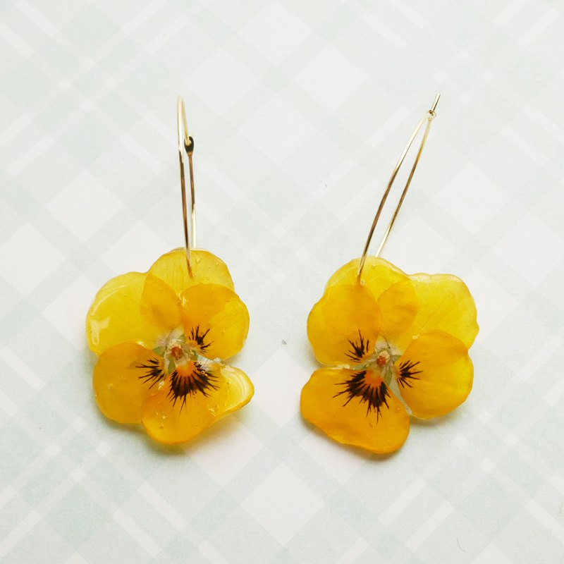 Real Viola earrings