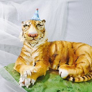 Tiger brother stereo fondant cake