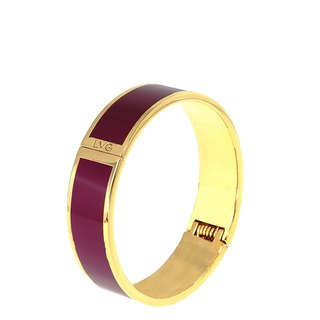 Solid Masa La burgundy cloisonne enamel series solid color bracelet (gold) -11,500,159,014