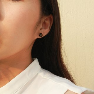*coucoubird*black gold earrings