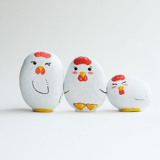 Chicken doll stone painting, handmade unique gifts.
