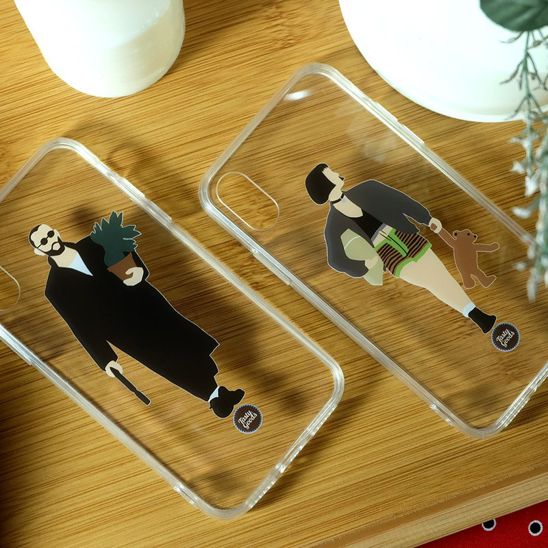 iPhone Clear Couple Case Cover 7 8 plus 10 11 Pro Max X S10 + Note Leon Mathilda