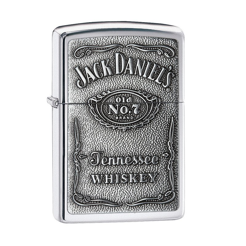 [ZIPPO Official Flagship Store] Jack Daniels Joint Model-Classic Badge (Silver) Windproof Lighter Lighter 250JD.427