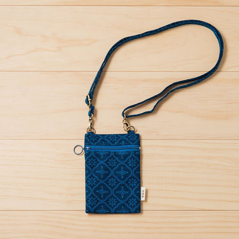 Easy Side Bag/Begonia Glass Pattern/Mansion Blue