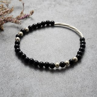 Natural Stone Bracelet - Stroll (Black Onyx / Temperament / Girl / Accessories)