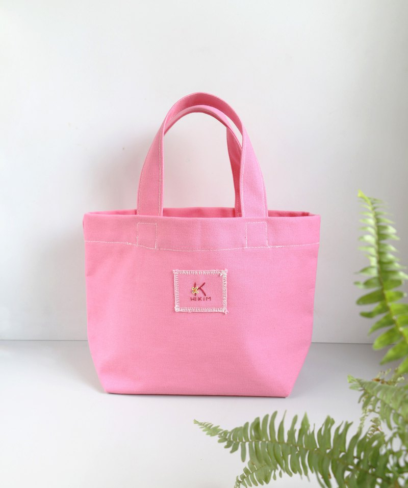 [Pink] Tote Bag (customized 26 English characters) / Eco Bag Lunch Bag