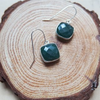 Dangle Emerald Earrings | Able to change into clip on