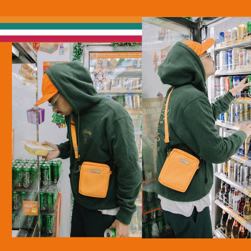 【Fumble】7-UMBLE | ORANGE | Fast Food Series | Shoulder Bag | Original Design | S