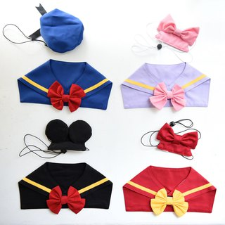 Handmade Pet Donald Sailor Scarf & British Cape Gift Set-Dog/Cat/Rabbit【ZAZAZOO】