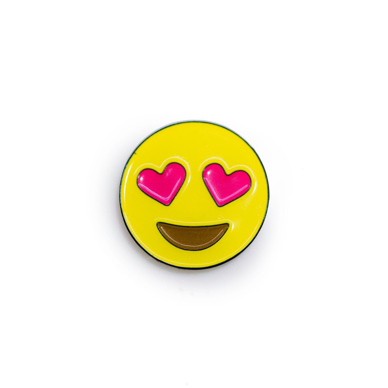 In Love Emoji Pin