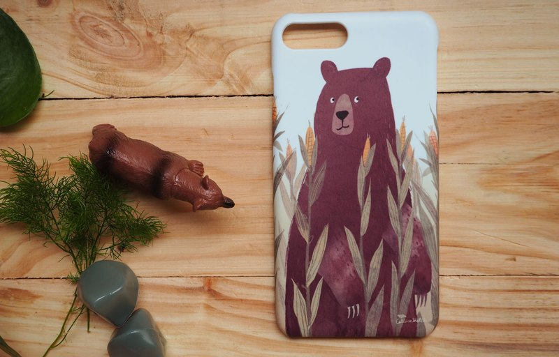 iphone case print high quality with bear corn