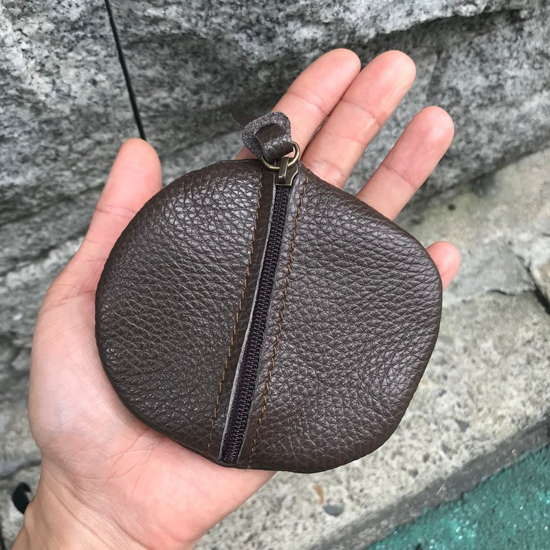 Sienna Leather Cobblestone Tiny Coin Purse