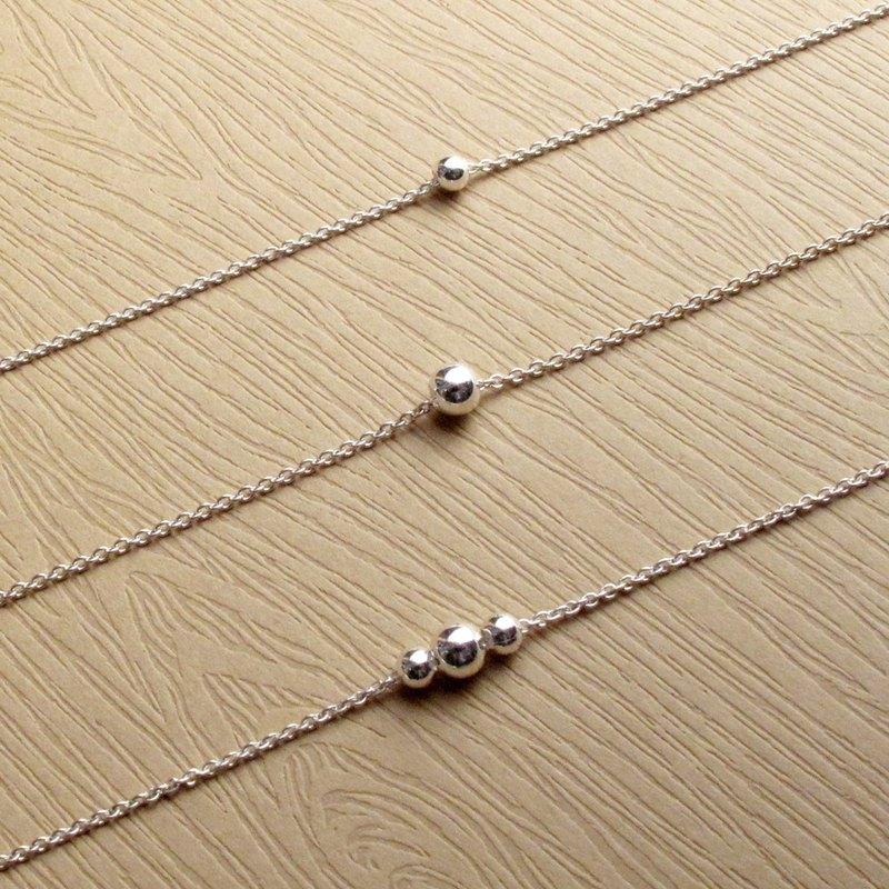 瘋狂幾何2件優惠組 | 極簡圓珠珠925純銀鎖骨鍊/項鍊.閨密禮物