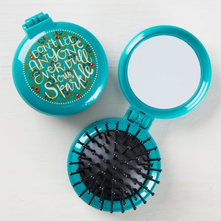 Round Folding Comb - Light Green ∣ BRM021