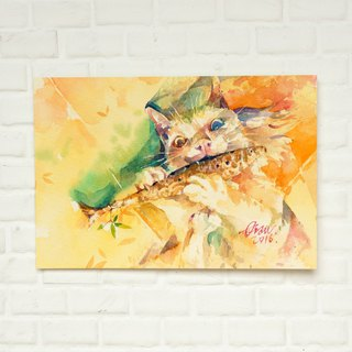"Watercolor original painting ""Sauper's Flute"""