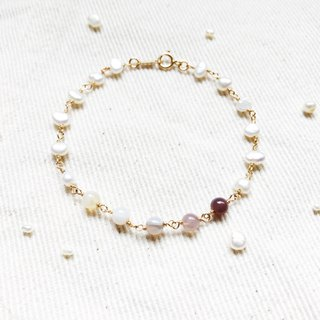 :: Small Pit:: Forest Girl Natural Stone Pearl 14K Gold Bracelet