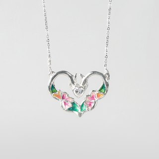 Heart of Trust | 925 Silver Necklace with Ceramic Jewelry Box