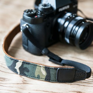 Camouflage leather SLR camera with Camo Camera Strap CS-CAMO