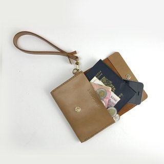Zemoneni leather truffles color purse with carrying strap