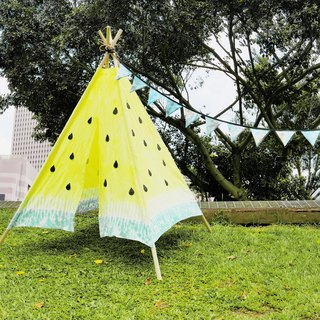 Tents picnic watermelon tents hand-painted rendering dyed hand (without sticks)