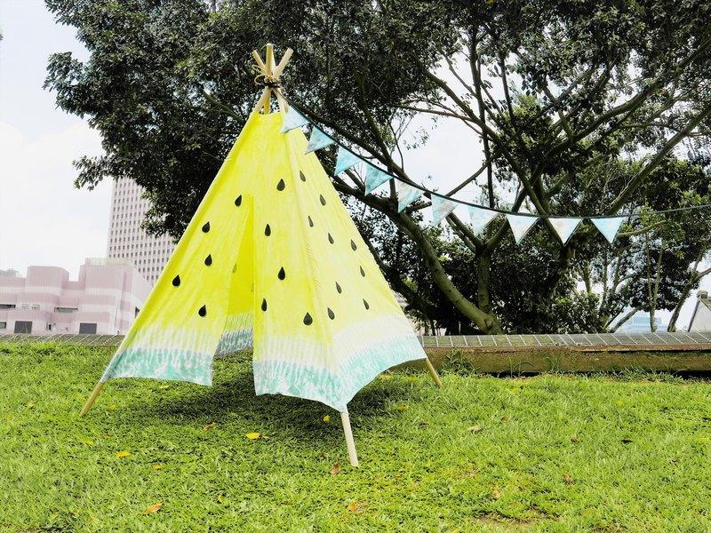 Tent Picnic Watermelon Tent Hand Dyed Rendering Dyed Hand Made