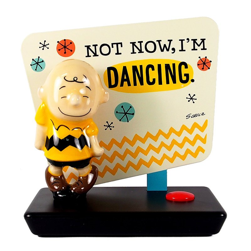 Snoopy sound-absorbing iron signboard - Fly to dance (Hallmark-Peanuts ornaments)