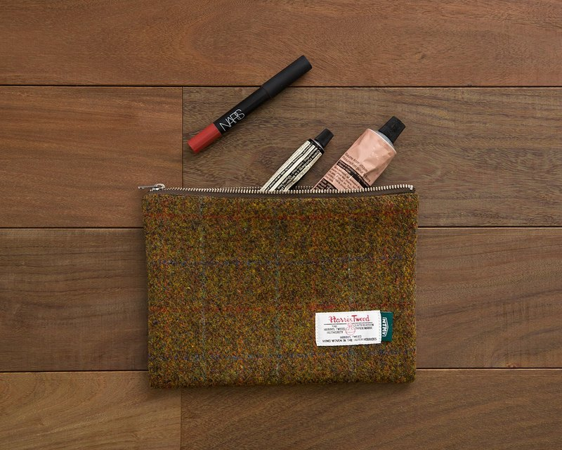 NTMY.Harris Tweed Pouch Reese coarse carry-on bag